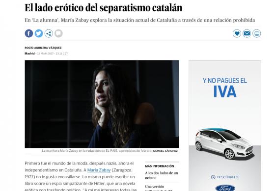 Críticas literarias. La Alumna en El País