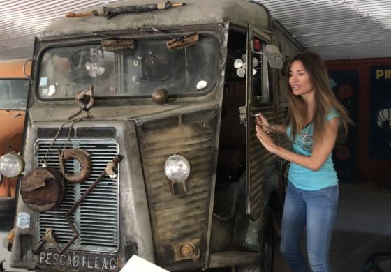 En la furgoneta del dr. Bacterio
